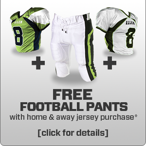 Free Pro Custom Football Pants at www.allensportswear.com/promos/football