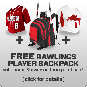 Free Rawlings Player Backpack at www.allensportswear.com/promos/baseball
